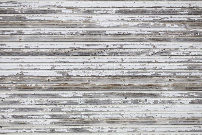 Zakłopotany Biały drewno ściany tło lub Floordrop dla fotografów fotografia stock