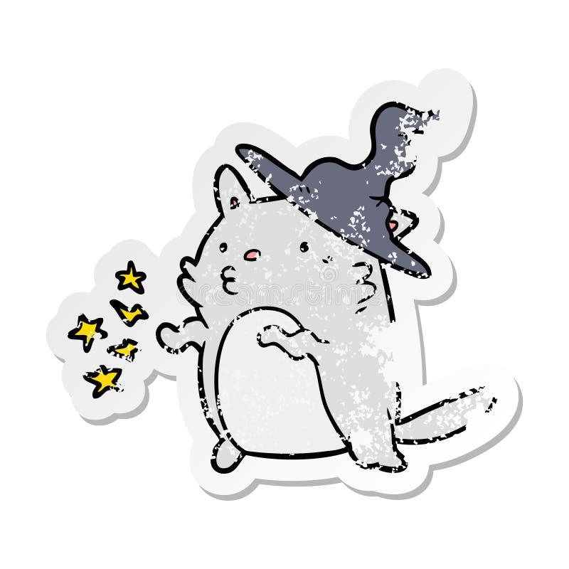 zak?opotany majcher kresk?wka kota czarownik ilustracja wektor