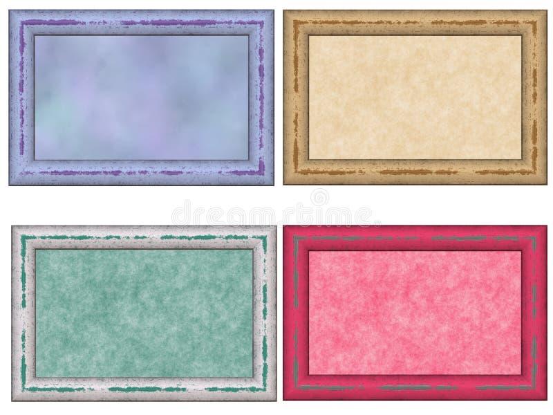 zakłopotany ramowy pastelowy set ilustracja wektor