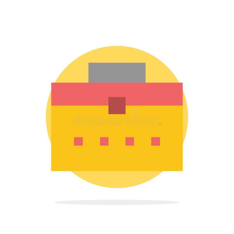 Zak, Arbeiderszak, Gebruiker, van de Achtergrond interface Abstract Cirkel Vlak kleurenpictogram royalty-vrije illustratie