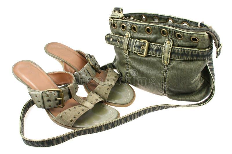 Zak en schoenen stock afbeelding
