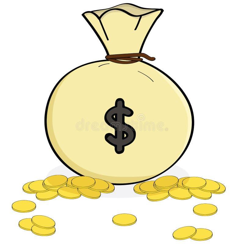 Zak geld stock illustratie