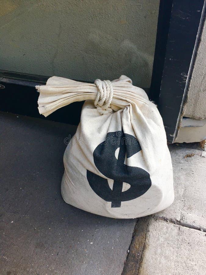 Zak geld, dollars stock foto