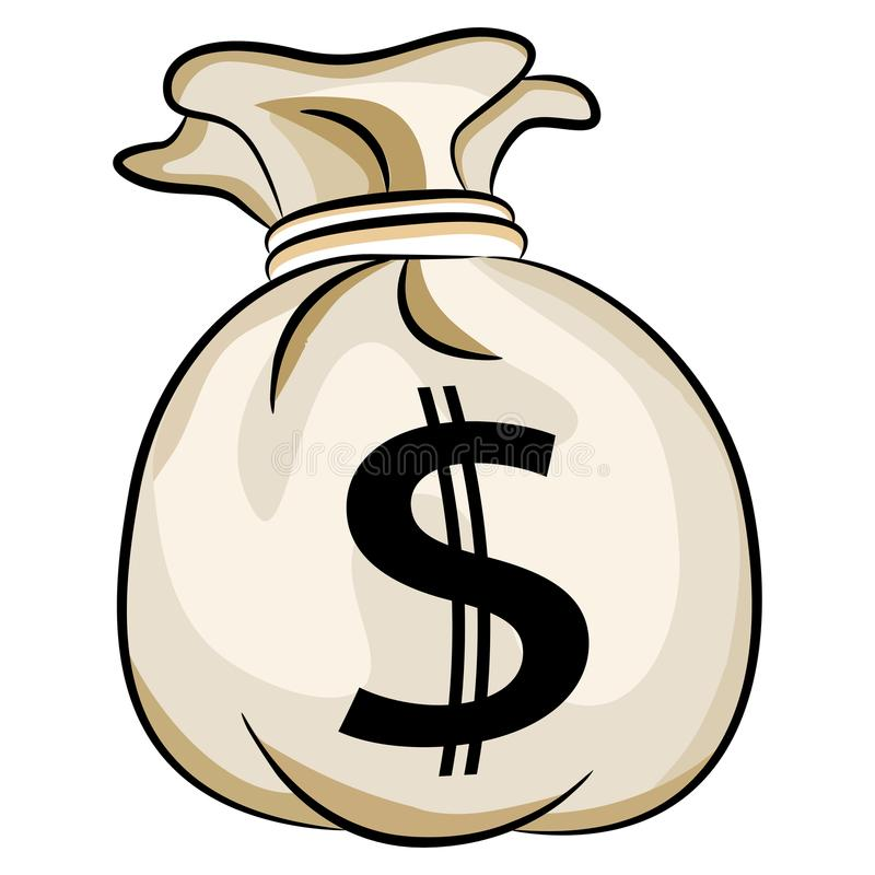 Zak het Contante geld van de V.S. van het Bankgeld vector illustratie