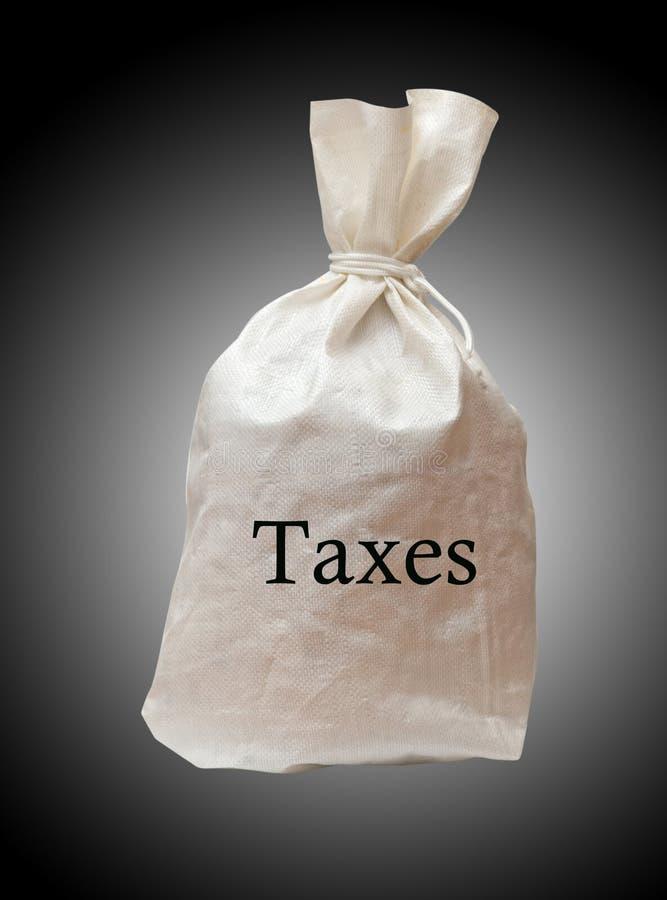 Zak met belastingen royalty-vrije stock foto