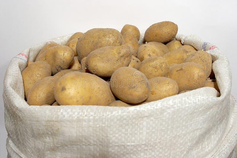 Zak met een aardappel royalty-vrije stock afbeelding