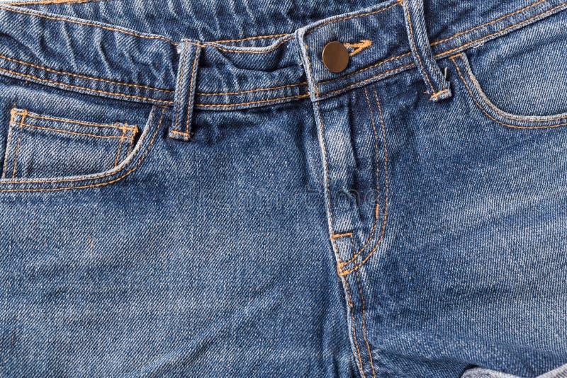Zak op jeansclose-up stock foto's