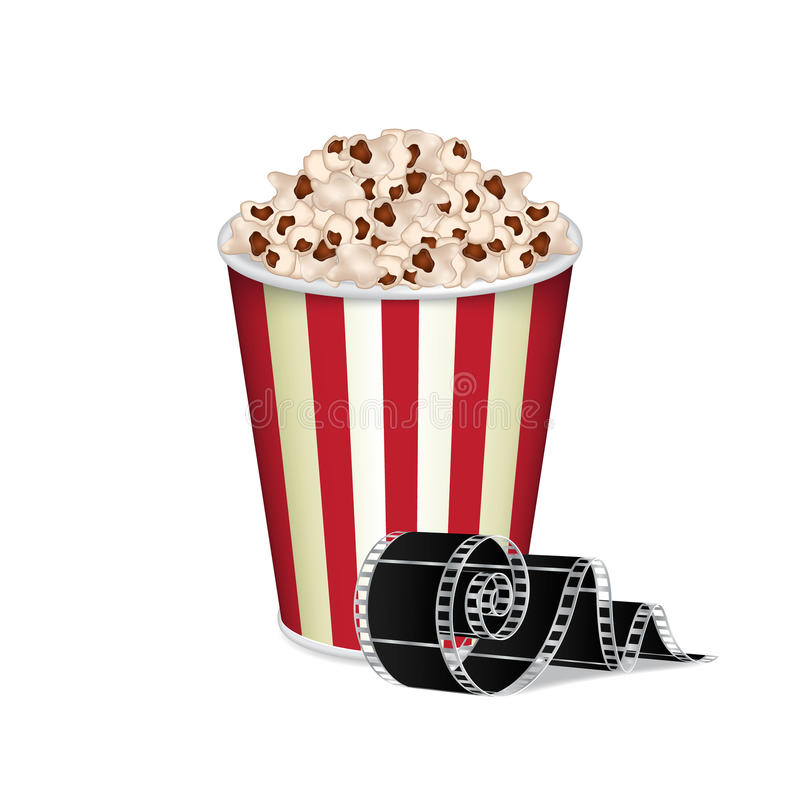 Zak popcorn stock illustratie