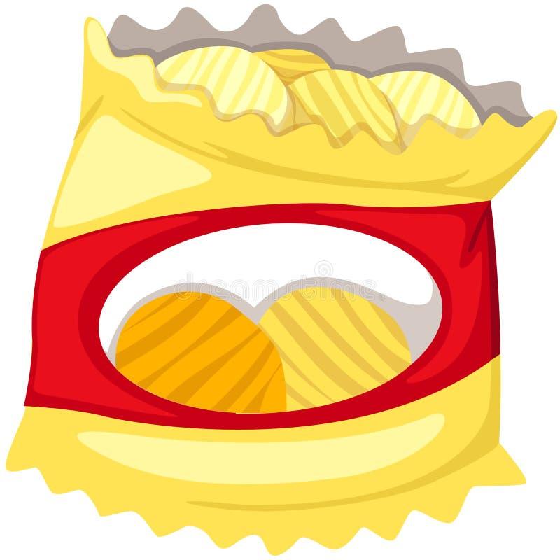 Zak van chips stock illustratie
