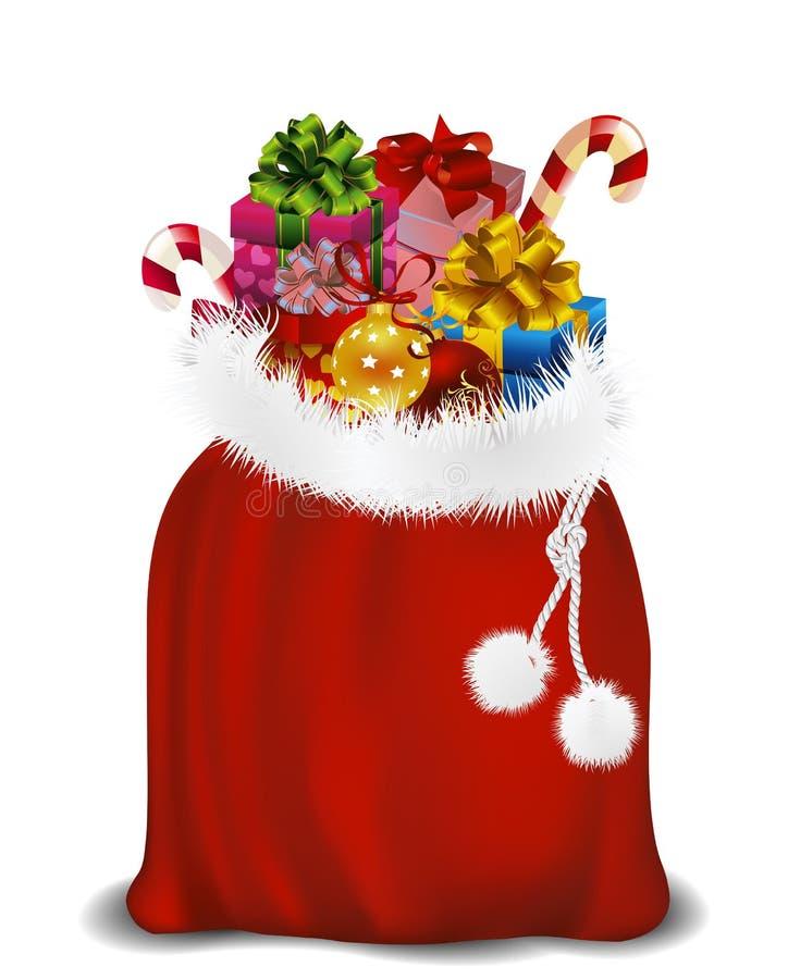 Zak van de Kerstman stock illustratie