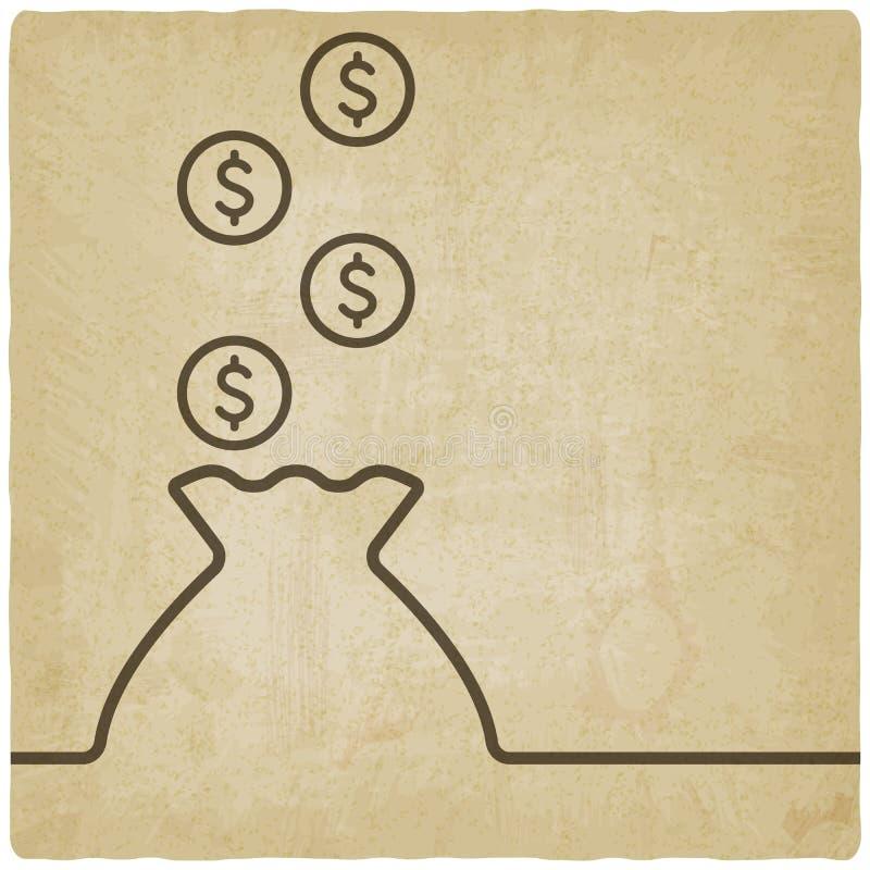 Zak van geldsymbool royalty-vrije illustratie