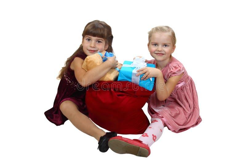 Zak van giften royalty-vrije stock afbeelding