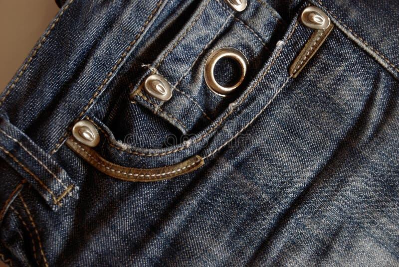 Zak van jeans stock afbeeldingen