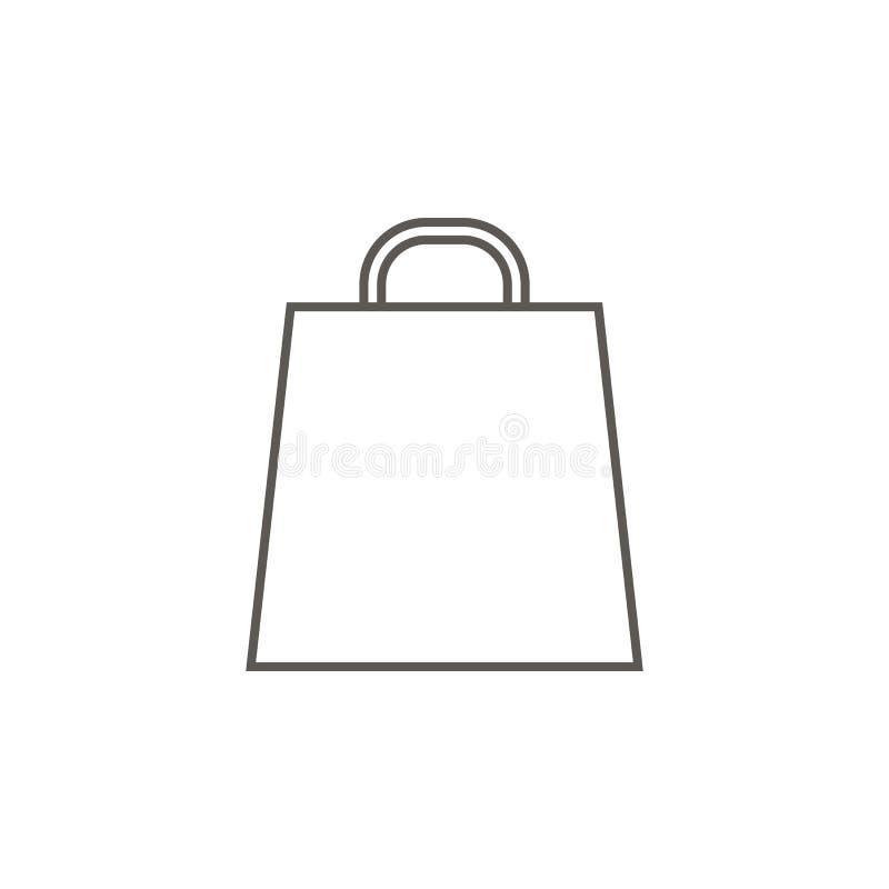 Zak voor gaand het winkelen vectorpictogram E Zak voor gaande het winkelen vector vector illustratie