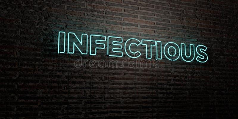 ZAKAŹNY - Realistyczny Neonowy znak na ściana z cegieł tle - 3D odpłacający się królewskość bezpłatny akcyjny wizerunek ilustracja wektor