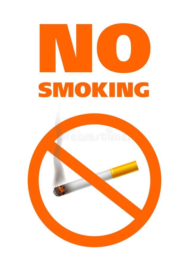 zakaz palenia ilustracji