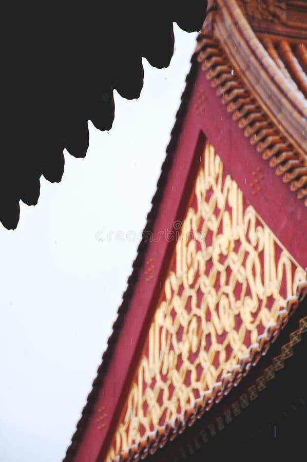 zakazane miasto Gugong chińczycy tradycyjne struktury okapy fotografia stock