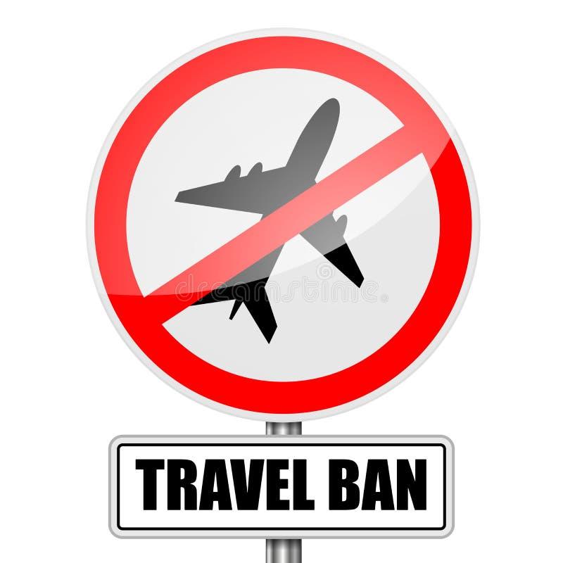 Zakazu Podróży znak ilustracja wektor