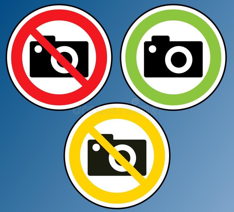 zakazująca kamera royalty ilustracja