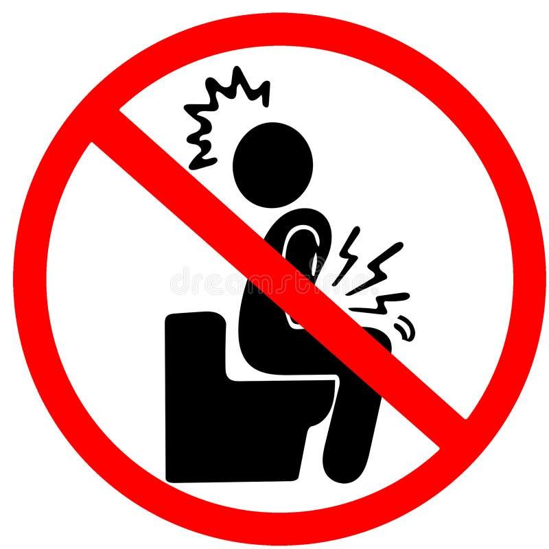 Zakazujący być niestrawność czerwonego okręgu drogowym znakiem odizolowywającym na bielu ilustracja wektor