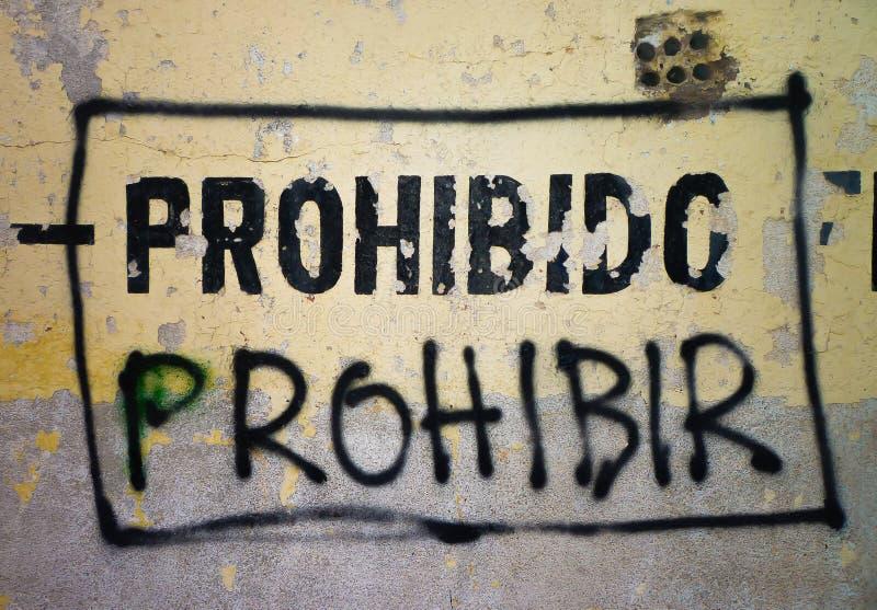 Zakazujący Zakazywać zdjęcia royalty free