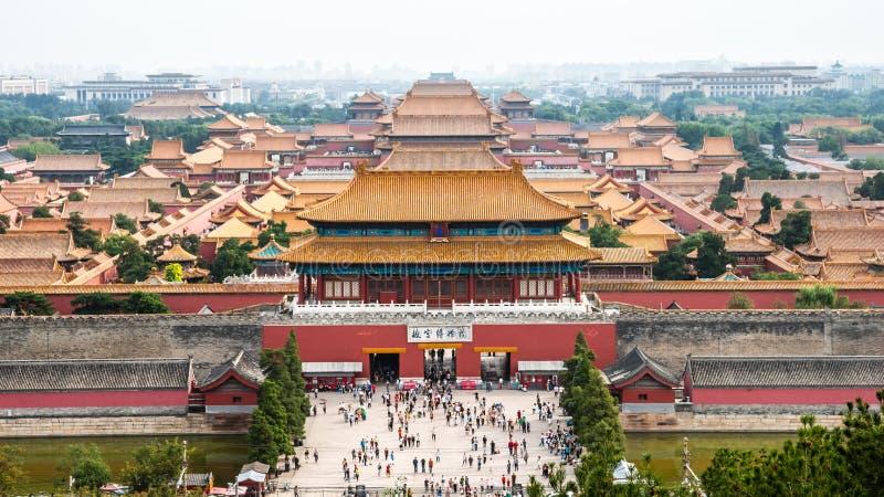 zakazuj?cy porcelanowy Beijing miasto zdjęcie royalty free