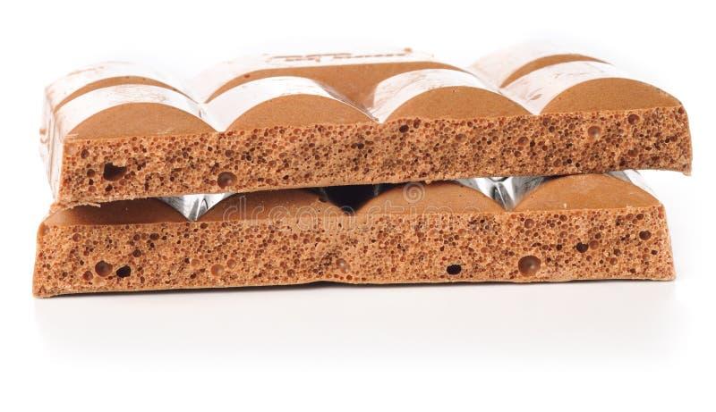 zakazuje czekoladowy porowatego brogującego fotografia stock
