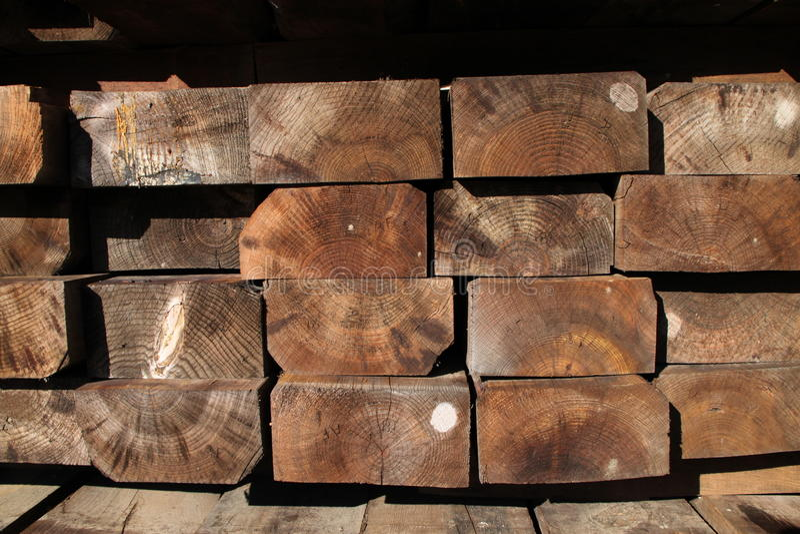 zakazuje drewno zdjęcia stock