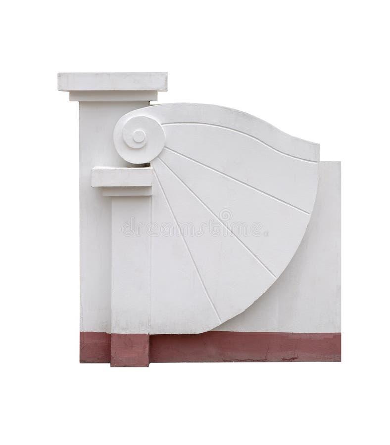 Zakazuje drzwiowego dekoracja stiuk, moździerz w parku odizolowywającym, z ścinek ścieżką zdjęcie stock