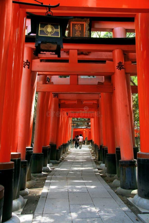 zakazuje inari Japan Kyoto torii zdjęcia royalty free