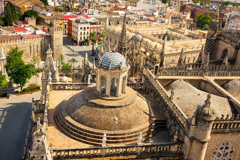 Zakazuje Los Angeles Giralda w Sevilla obraz stock