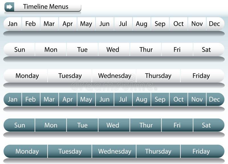 zakazuje menu linia czasu royalty ilustracja