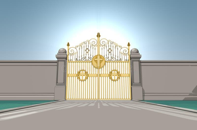 zakazuje nieba perłowych royalty ilustracja