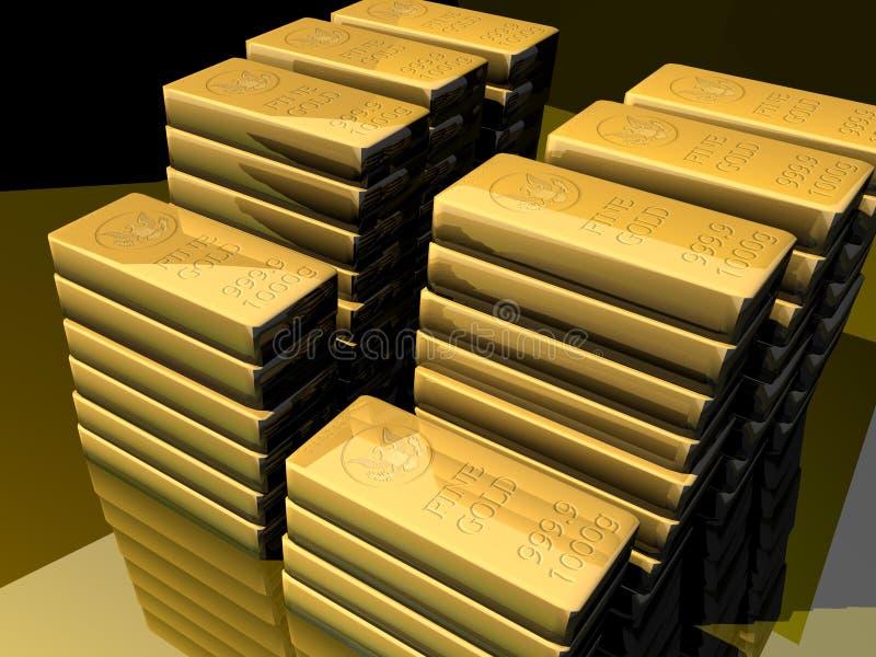 zakazuje się złoto ilustracja wektor