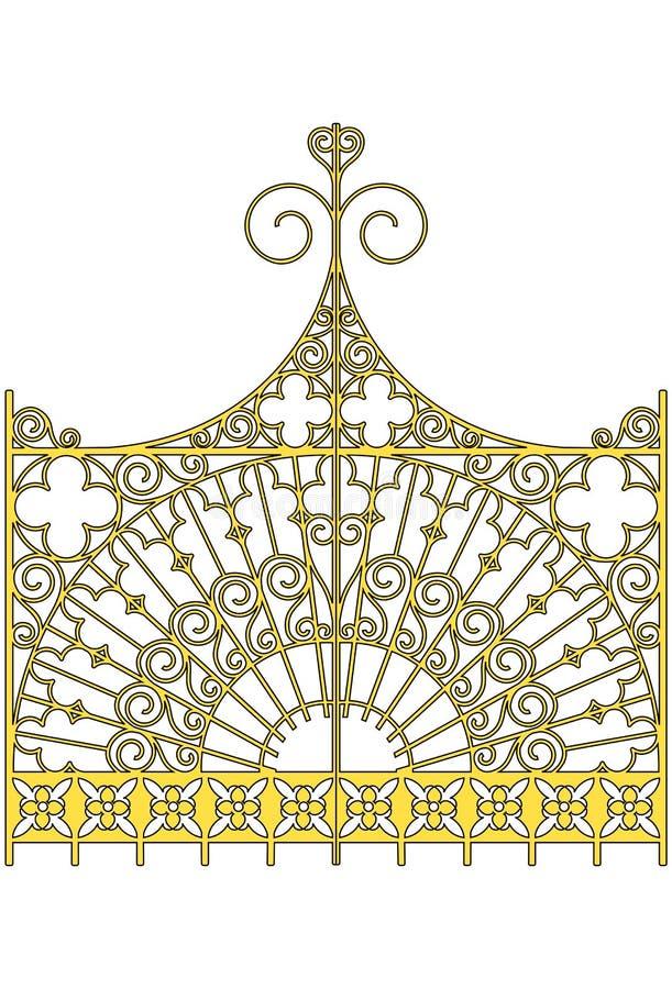 zakazuje złotego ilustracja wektor