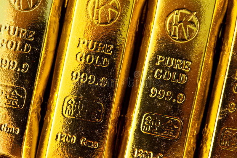 zakazuje złoto zdjęcia stock