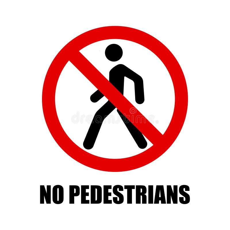 Zakazuje znaka zwyczajny skrzyżowanie, zwyczajny crosswalk zakazu znak royalty ilustracja