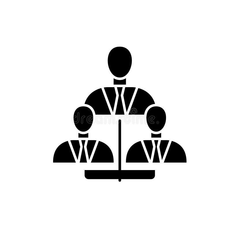 Zakelijk kader zwart pictogram, vectorteken op geïsoleerde achtergrond Van het zakelijke het symbool kaderconcept, illustratie vector illustratie