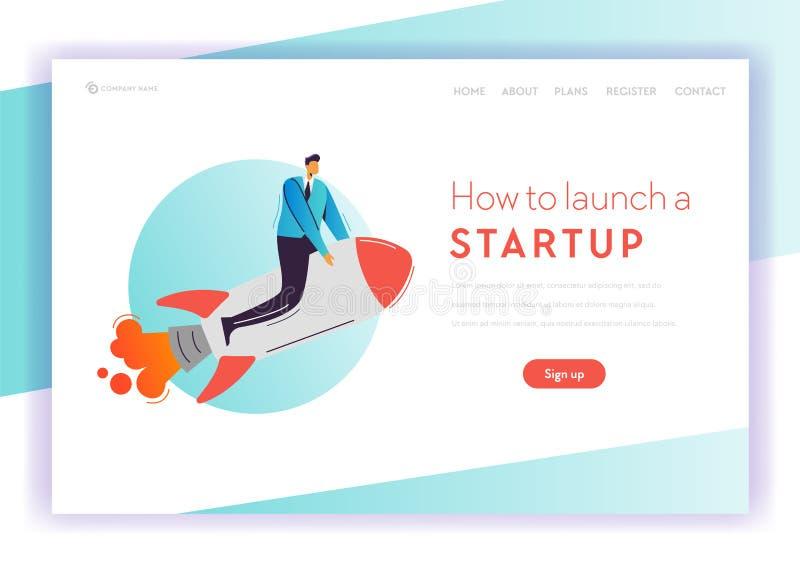 Zakelijk project Startconceptenlandingspagina stock illustratie