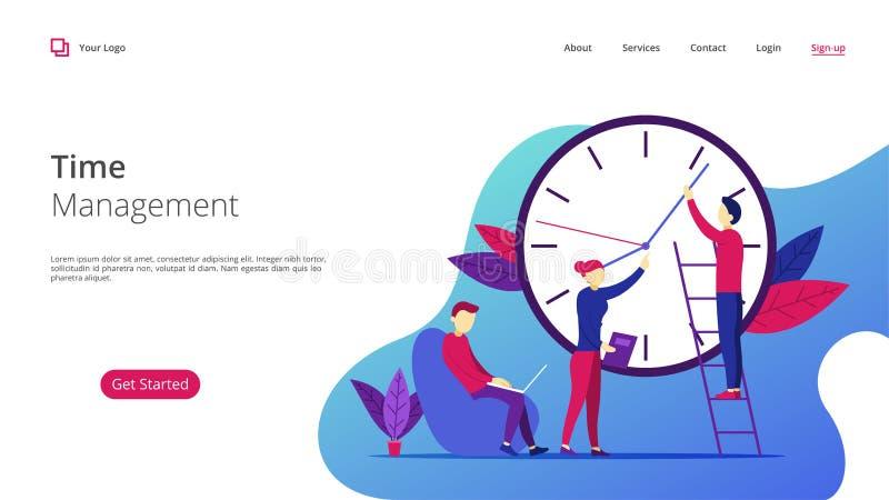 Zakelijk project in Team Management stock illustratie