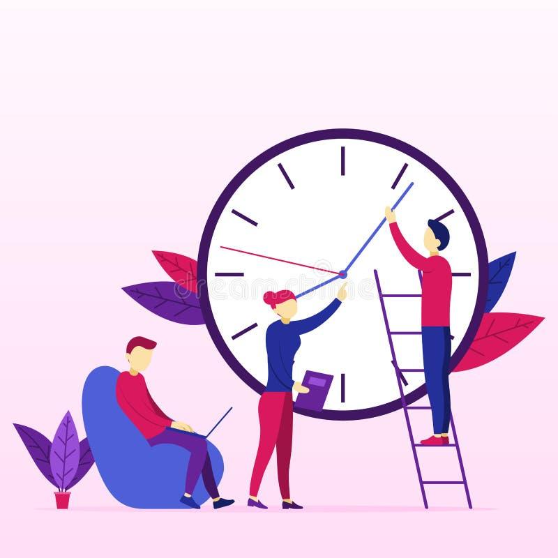 Zakelijk project in Team Management vector illustratie