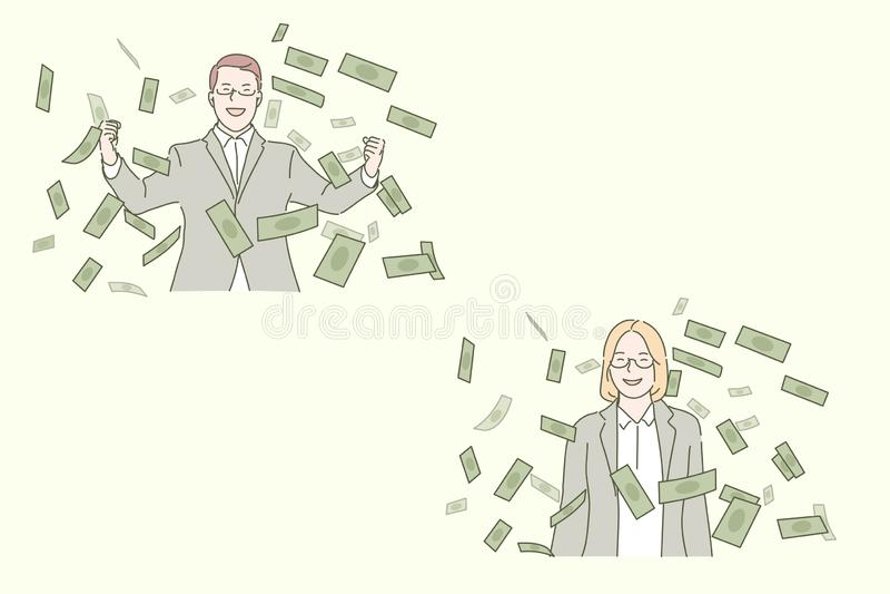 Zakelijk succes, voordelig deal concept vector illustratie
