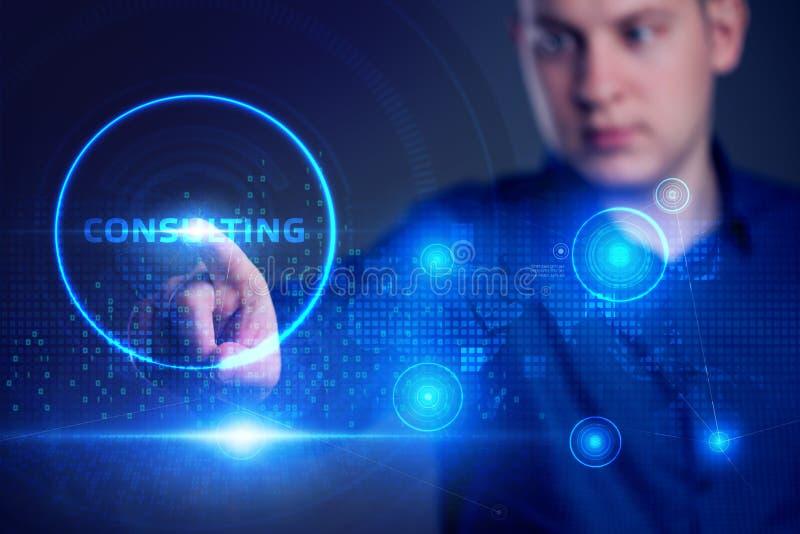 Zakelijk, technologisch, internet- en netwerkconcept Consulting Expert Advice Support Service stock afbeelding