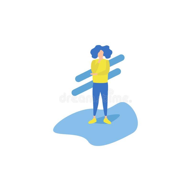 Zakelijke activiteiten het Denken royalty-vrije illustratie