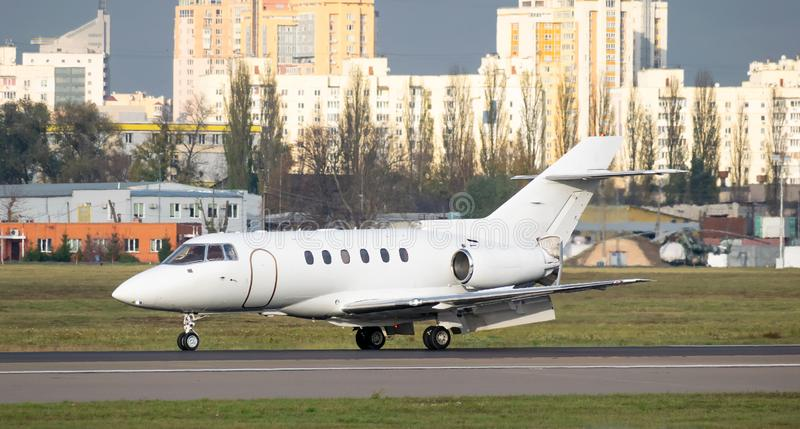 Zakelijke jetlanding stock foto