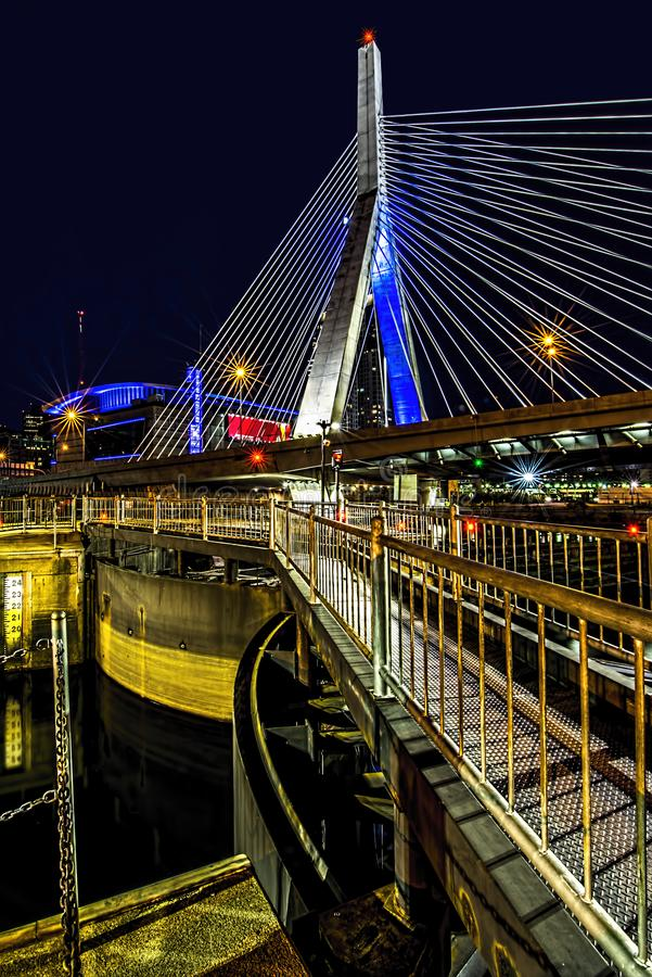 Zakem most przy nocą zdjęcie royalty free