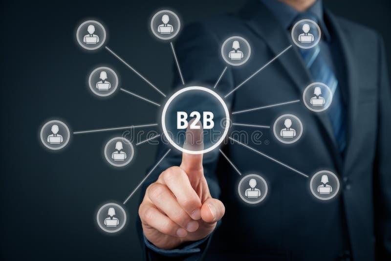 Zaken aan zaken B2B royalty-vrije stock afbeelding