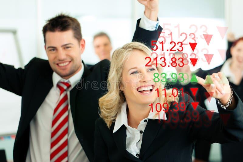 Zaken - bankier en financiënadviseurs stock afbeeldingen