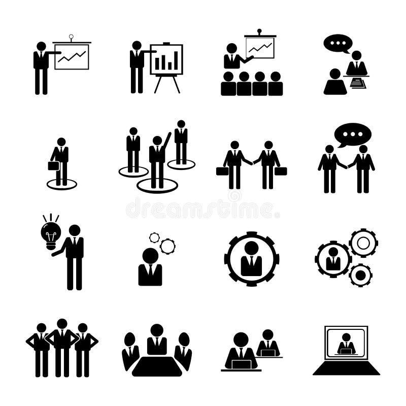 Zaken, beheer en menselijke middelpictogrammen geplaatst eps 10 vector illustratie