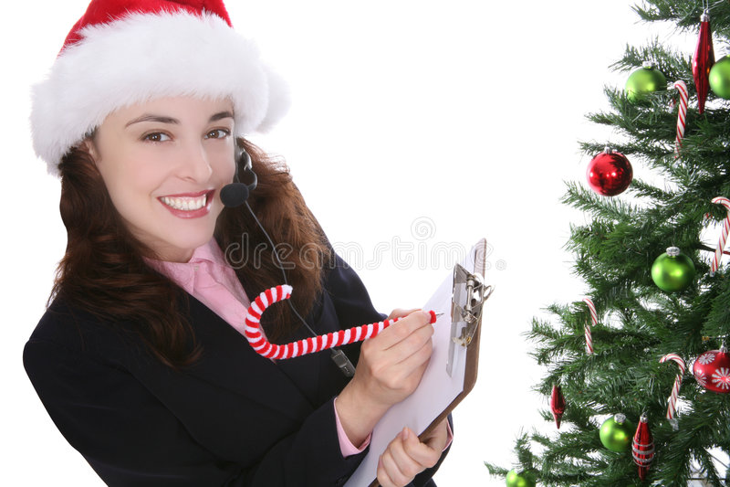 Zaken bij Kerstmis stock afbeeldingen